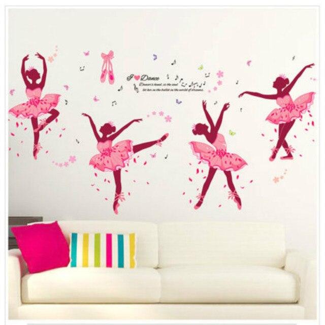 New Ballerina Wall Decal Girls Name Sticker Ballet Nursery Dance Bedroom  Decor