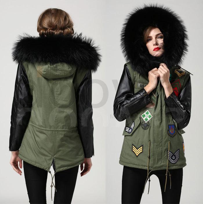 Aliexpress.com : Buy Mrs fur black big real fur collar jacket