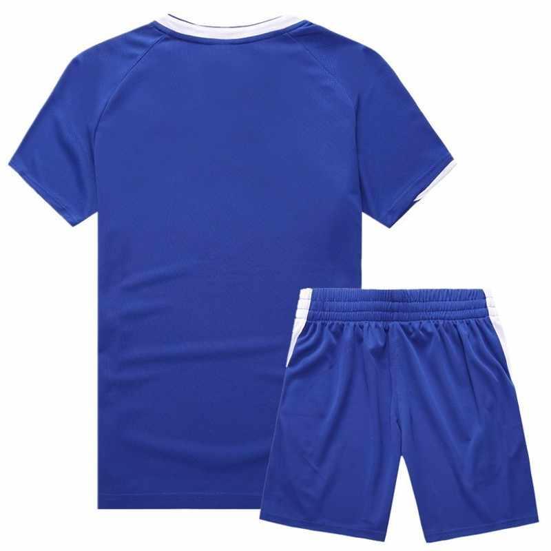 Мужской спортивный костюм, летний повседневный спортивный Мужской Быстросохнущий топ с короткими рукавами + шорты, спортивный костюм, комплект из 2 предметов, спортивный костюм