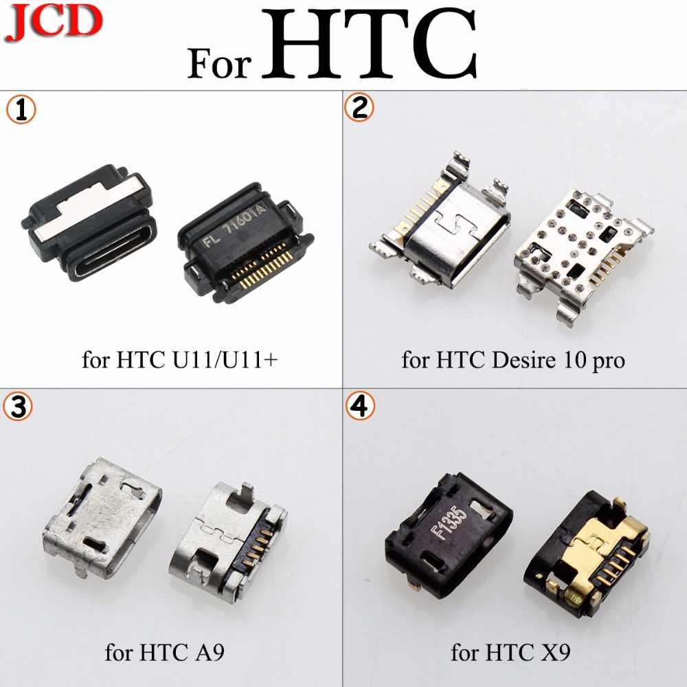 JCD Type-C For HTC Desire 10 pro Micro USB  jack tail,Mini Micro Usb Connector v8 port charging socket for HTC U11 / U11+ A9 X9