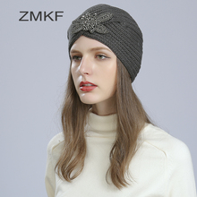 2017 New Fashion Women Turban Hat Bohemia 5 Solid Color Fold Beanies Female Simple Autumn Bonnet Indian Turban Hats For Women