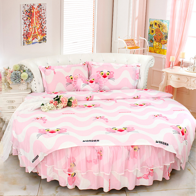 aliexpress  buy pink lace round bed bedding sets
