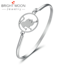 Bright Moon Fashion 12 Constellations Stainless Steel Bracelets Men Charm Casual Personality Bangles Jewelry