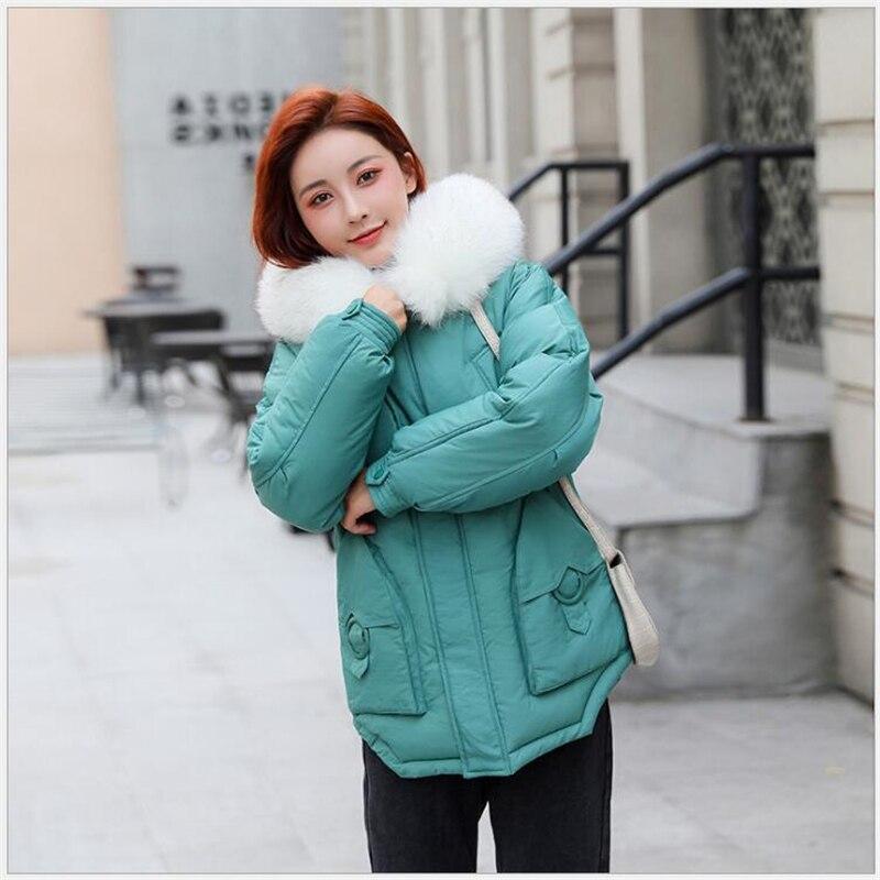 Winter jacket women Hooded Short Cotton wadded coat Casual Warm Women   parka   Fashion Outerwear casaco feminino inverno 172