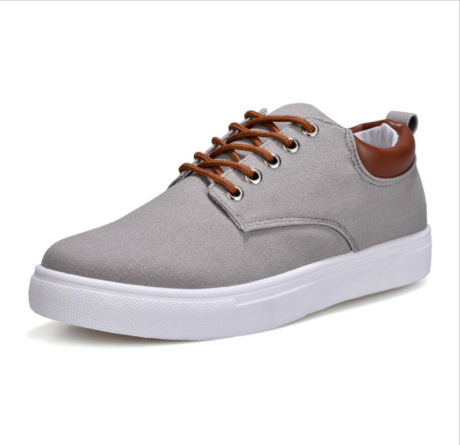 LISM 2018 Mens casual shoes flat new canvas  wild fashion Solid lightweight breathable casual shoes large size 39-47