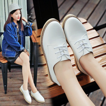 2016 New Arrival Women's Fashion Autumn winter Style Casual White Shoes Female Breathable Lace-up Flat Shoes