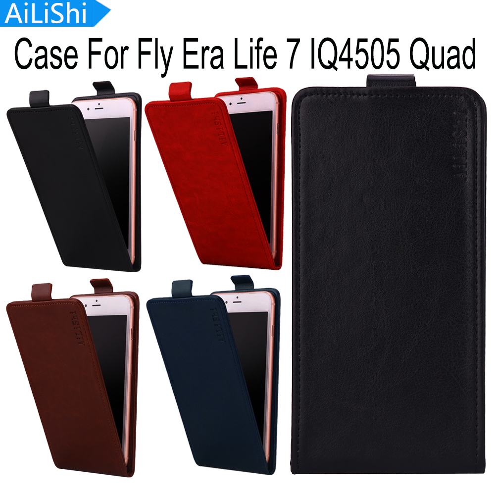 AiLiShi For Fly Era Life 7 IQ4505 Quad Case Fashion Up And Down Flip PU Leather Case Protective Cover Skin New With Card Slot