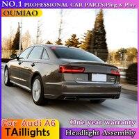 OUMIAO стайлинга автомобилей для Audi A6 задних сигнальных огней, 2012 2013 2014 2015 для A6 задние фонари Специальный автомобильный свет, светодиодные зад
