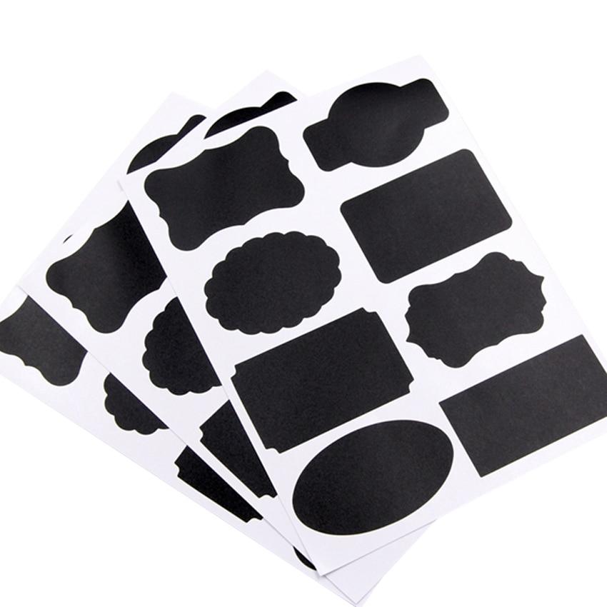 10 pacote lote blackboard adesivo bolo adesivos materiais de cozinha geladeira adesivos flowerpot posts