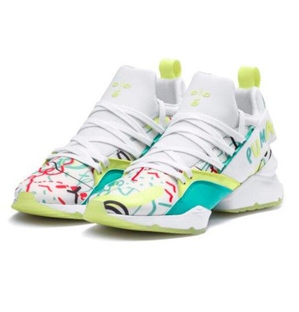 Original PUMA X SHANTELL MARTIN Muse Maia Sneakers Graffiti Women Sport