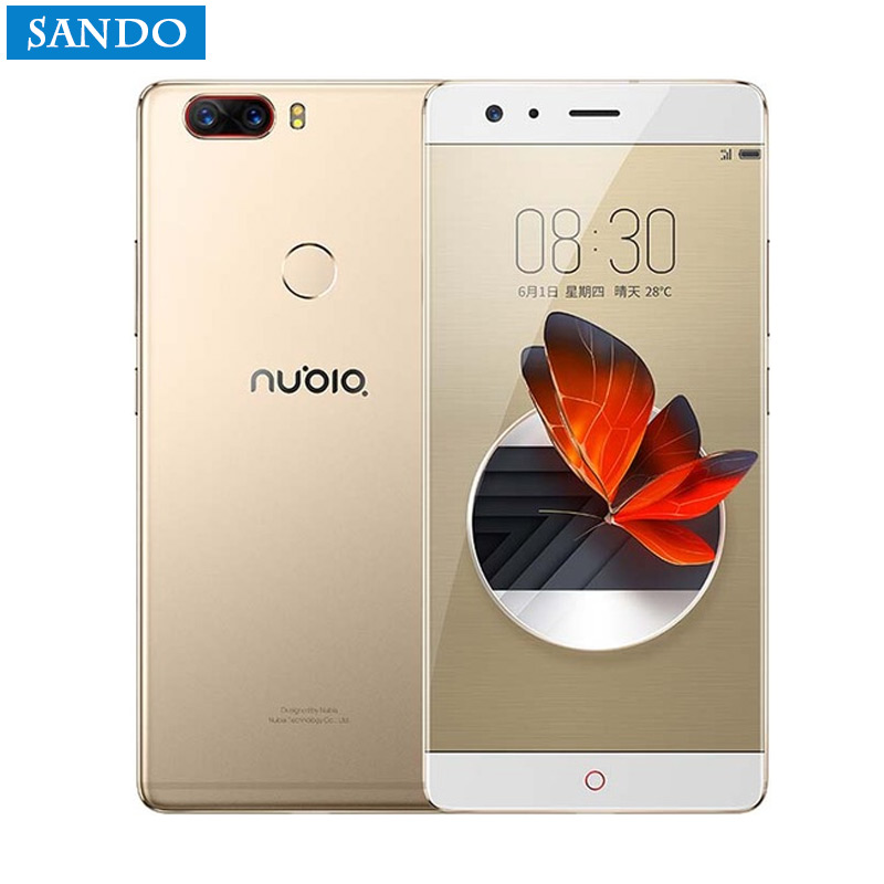 Nouveau ZTE Nubia Z17 Sans Frontières 6 GB/8 GB RAM 64 GB/128 GB ROM Téléphone portable Android 7.1 Snapdragon 835 Octa base 5.5 double SIM 23.0MP