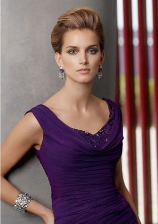 Free Shipping Robe De Soiree 2014 New Gorgeous Vestido De Madrinha Party Short Purple Mother Of The Bride Dresses With Jacket