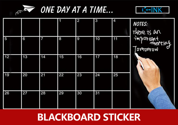 Removable Daily Planner Blackboard Sticker , Weekly / Monthly Working Planner Chalkboard Wall Sticker