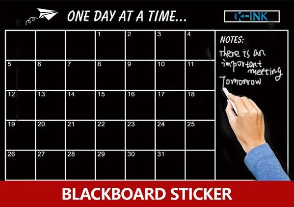etiqueta diaria removivel do quadro negro do planejador etiqueta de parede semanal mensal do quadro do