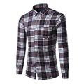 Hot Seller 2016 New Mens Shirt Autumn Winter Plus velvet thickening Fashion Slim fit Warm Clothes Outwear or Inside Take KMC3032