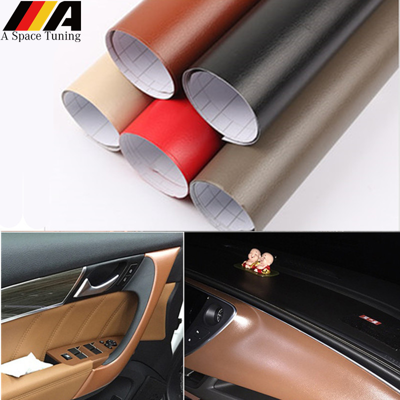 30x100cm Leather Pattern Pvc Adhesive Vinyl Film Sticker