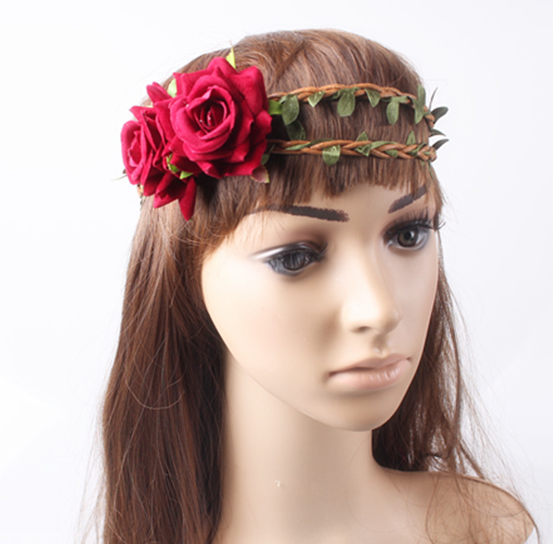 Cosplay rose hairbands Party Hair Accessories nice wedding fascinator headpiece bridal hairstyle kentucky headwear High quality headpiece