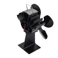 Hot 4 Blade Heat Powered Stove Fan for Wood / Log Burner/Fireplace Eco