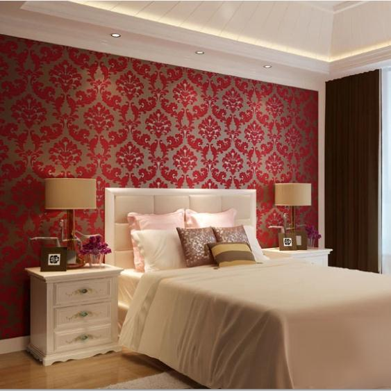 slaapkamer » behang slaapkamer romantisch rood - inspirerende, Deco ideeën