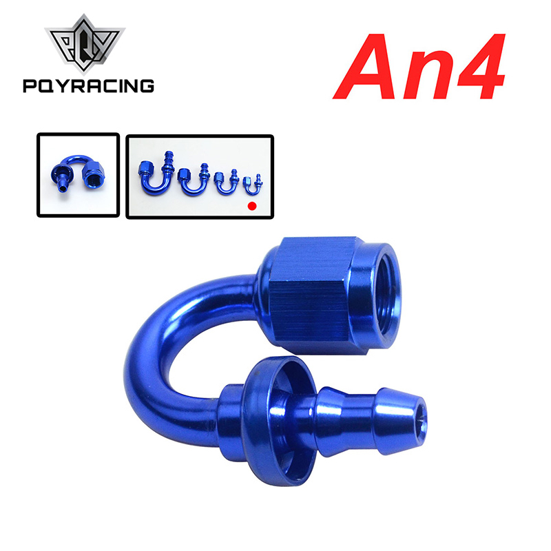 Pqy - An4 4-an 4an 180 Degree Push On Lock Socketless Hose End Fitting Adapter Pqy-sl2018-04-011 Supplement The Vital Energy And Nourish Yin