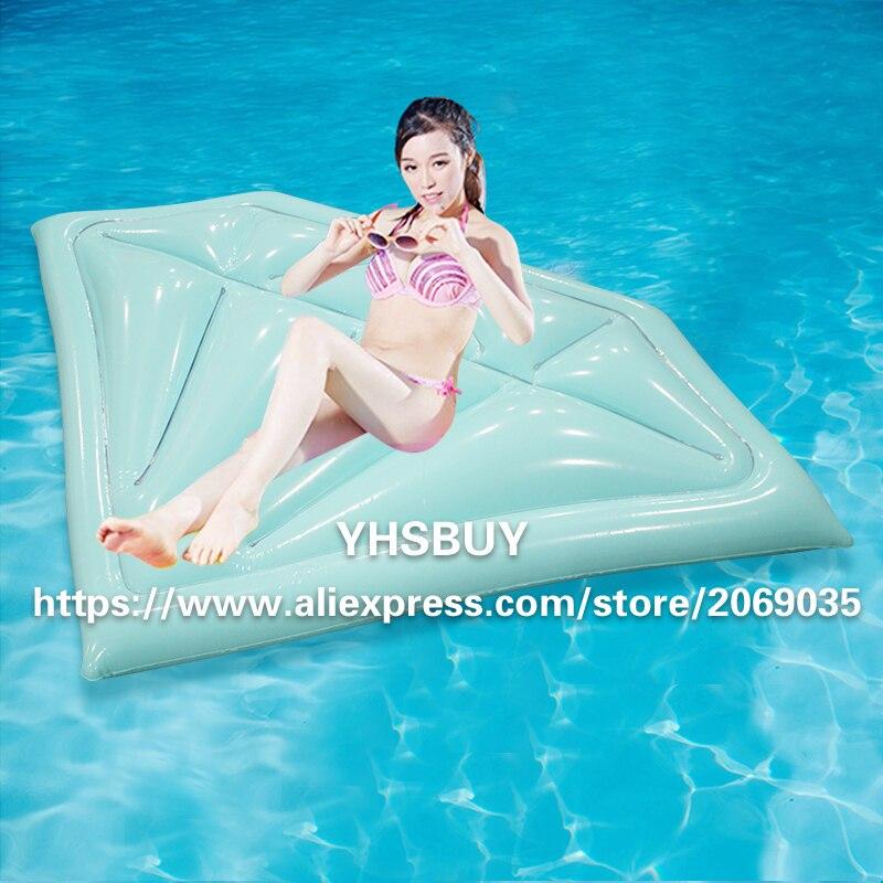 Творческий алмаз/ключ модель надувной бассейн плавать гигантский синий ездить по плаванию кольцо взрослых Для женщин воды для отдыха и веч...