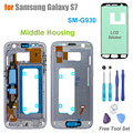 High Quality Replacement Middle Frame for Samsung Galaxy S7 SM- G930 Middle Housing Screen Bezel With LCD Adhesive Sticker Tools