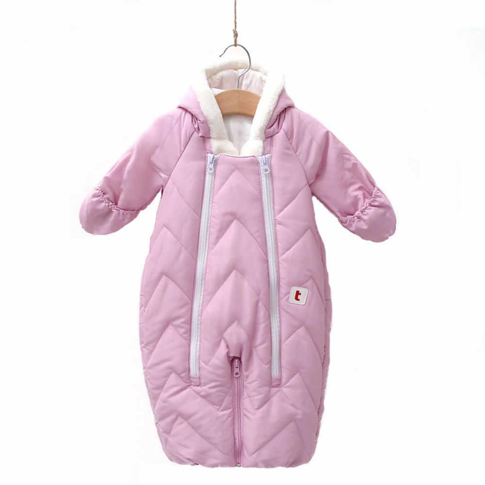 90cb79c99 Snowsuit Baby Snow Wear Cotton Padded Warm Outerwear Children Overalls  Romper Kids Winter Jumpsuit Newborn Parkas