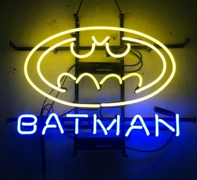 Barre de bière de signe de néon en verre de BATMAN faite sur commande