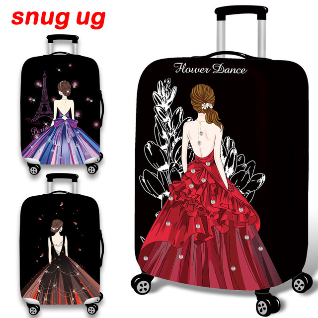New 3d Wedding Dress Travel Luggage Suitcase Protective Cover For