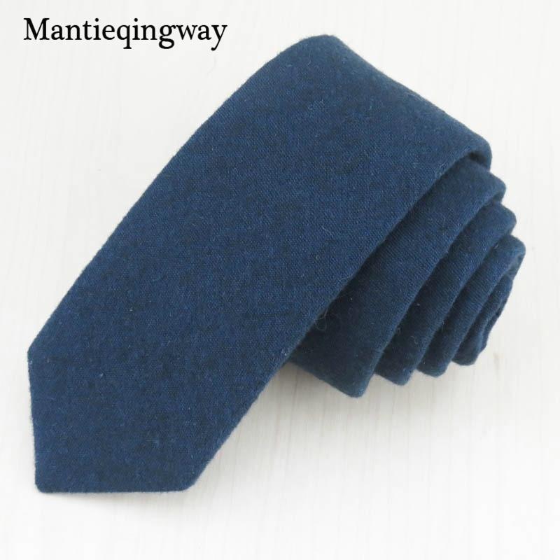 Mantieqingway Business Bomull Slipsar för Herrar Bröllop Jul Slipsar Skinny Neck Tie Gravatas Slim Cravats Tillbehör