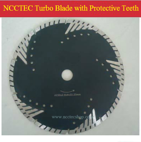 14'' NCCTEC Diamond turbo saw blade with protective teeth ( 5 pcs per package) | 350mm DRY granite marble cutting blade no 1 twist plaster saws jewelry spiral teeth saw blades cutting blade for saw bow eight kinds of sizes 144 pcs bag