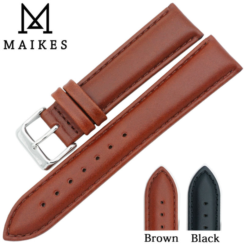MAIKES Accessories Bracelet Belt Watch Strap band 17 18 19 20 22 24 mm Genuine Leather Watchbands For Daniel Wellington DW maikes hq 16 18 20 22 24 mm genuine alligator leather strap watch band brown with pin buckle men watchbands bracelet accessories