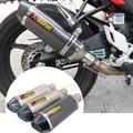 Akrapovic pit bike tubo de escape 150cc motocicleta de alto rendimiento tubo de escape unviersal de escape de la motocicleta