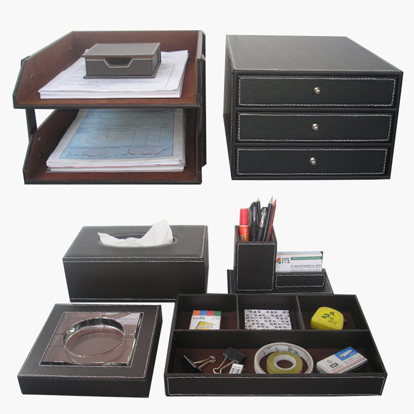 Aliexpress.com : Buy Wholesale 7PCS/Set Luxury Leather Office Desk ...