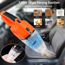 New 120W 12V Car Vacuum Cleaner Handheld Mini Super Wet And Dry Dual Use cleaner