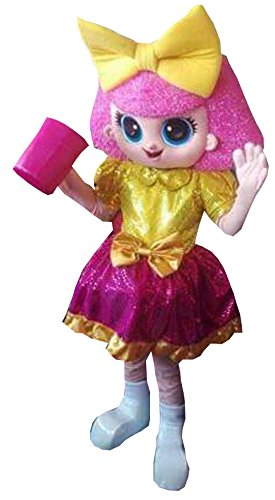 New Adult Deluxe Hot Selling Plush New Adult LOL Pink Girl Doll Christmas Mascot Fancy Dress Halloween Mascot Costume Free Ship
