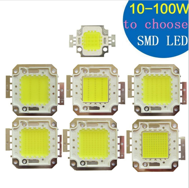 10pcs /lot 10W 20W 30W 50W 70W 80W 100W LED Lights High Power Lamp floodlight Warm White / Neutral White Cool White GPILED 30MIL