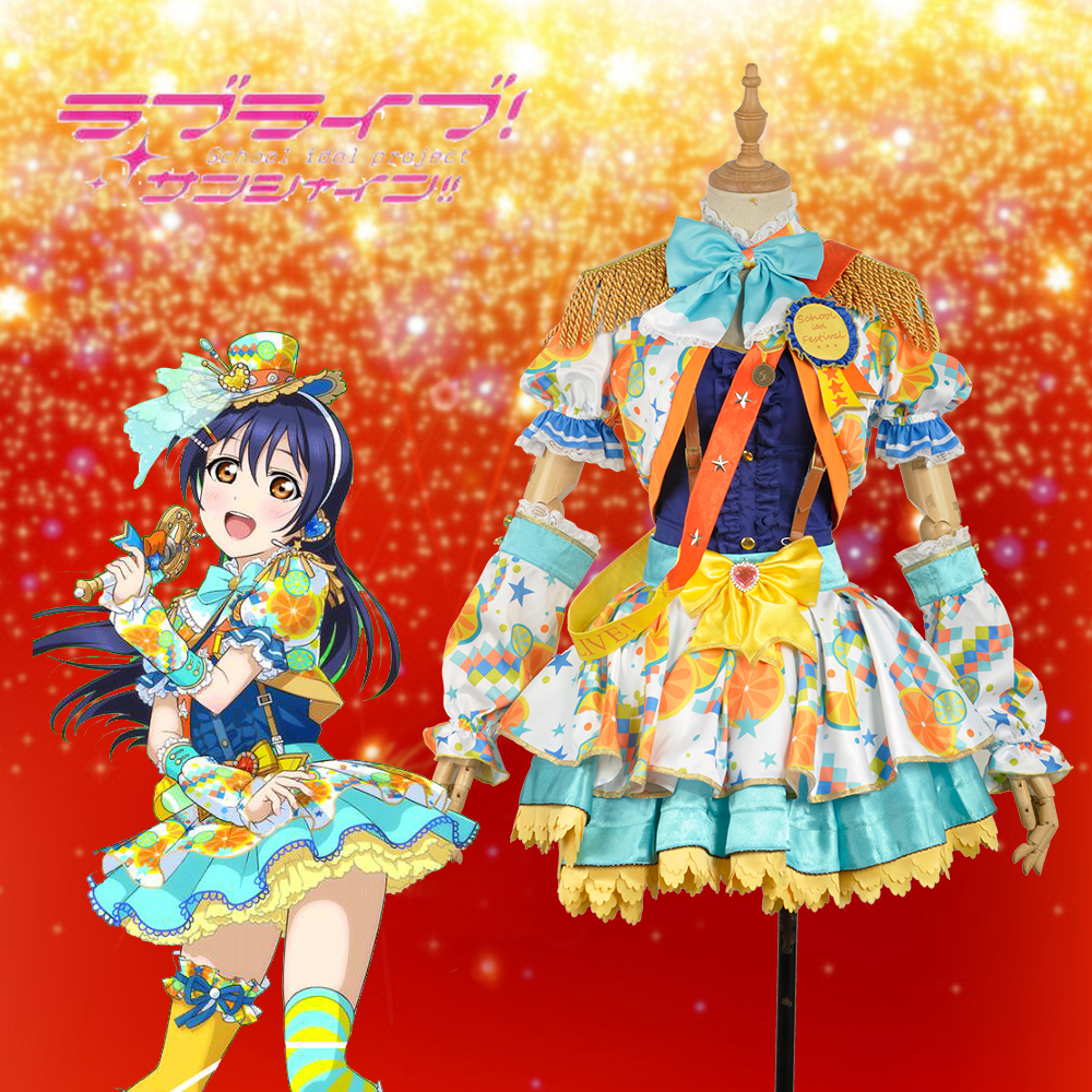 W1022-3 Love Live! Umi Sonoda Fancy Idol Awakening Dress Cosplay Costume Custom Made Adult Women Outfit Clothing Christmas
