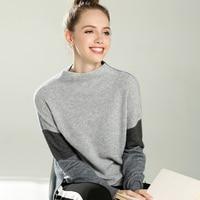 2018 Новый кашемировый свитер женщин шить стилей пуловеры осень и зима теплый свитер женский