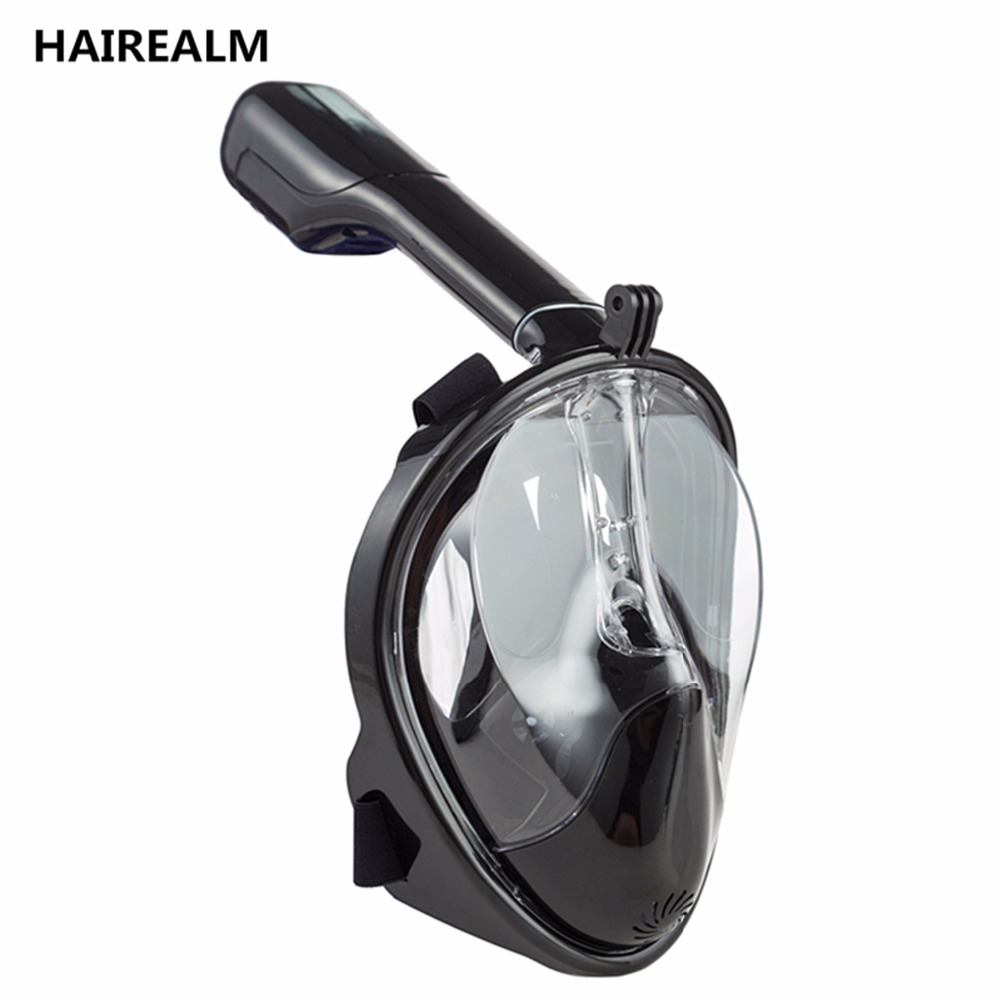 180 Degree Wide View Scuba Underwater Detachable Diving <font><b>Mask</b></font> <font><b>Full</b></font> Face Snorkeling <font><b>Mask</b></font> Swimming Snorkel Anti Fog Snorkeling