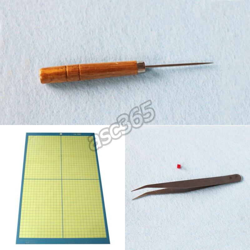 Vinyl Weeding Tool-Tweezer&Drill,A3 11inch x 17inch Cutting Mat cutting mat