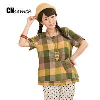 CNsamch 2017 Tops Summer New Fat T Shirts Women MM Large Size M 2XL Cotton And