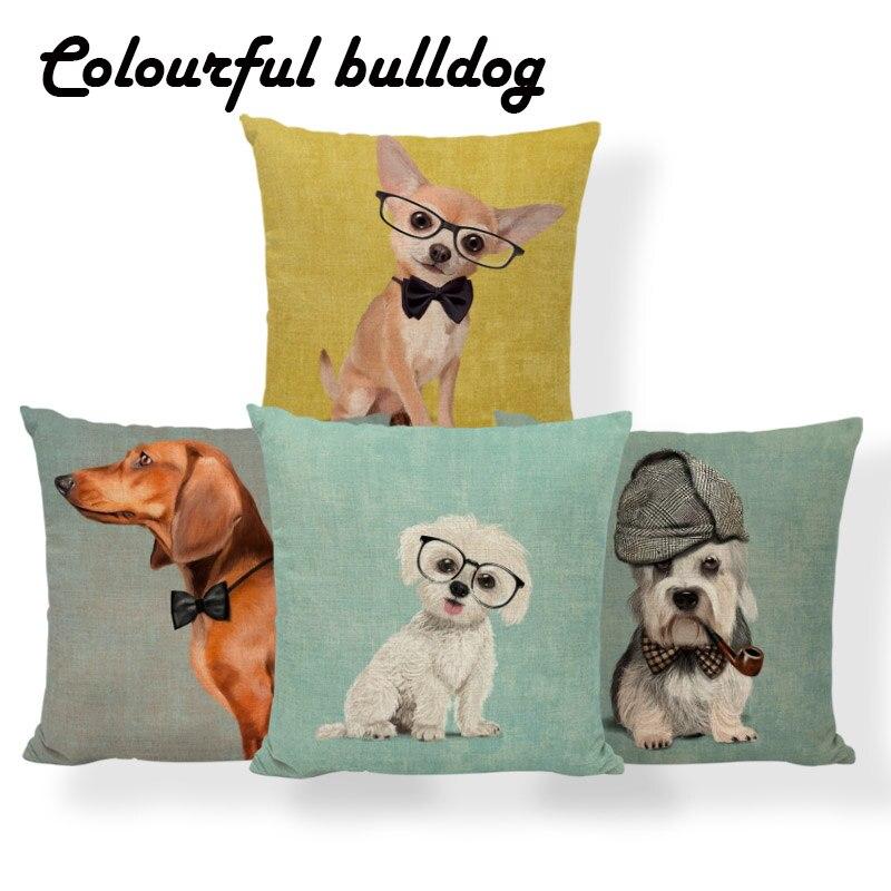 Dog Pug Schnauzer Cushion Cover Golden Retriever Dachshund