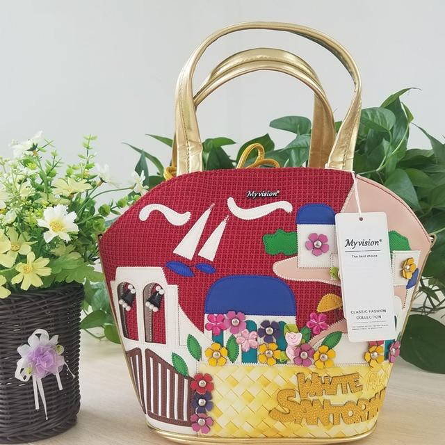 2017 Women Shoulder Bag Italy Braccialini Handbag Style Retro Handmade Bolsa Feminina Famous Luxury Designer Bolsos