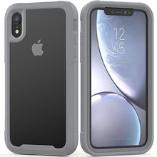 PC + TPU funda de absorción de golpes militar para iPhone X XR XS Max funda protectora ultrafina transparente para 6s 6 7 8 Plus(China)