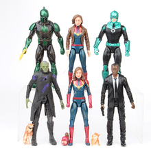 6Pcs/lot Avenger 4 Endgame Movie Anime Carol Danvers Nick Fury Captain America Ironman Spiderman Superhero Action Figure Toy