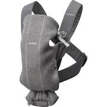 Рюкзак-кенгуру BabyBjorn Mini Cotton Jersey, тёмно-серый