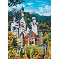 Full Square/Round DIY Diamond Embroidery Castle 5D Diamond Painting Rhinestone Mosaic Decor HYY