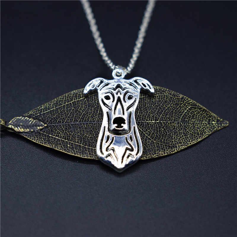 4 สีใหม่ Greyhound Charm สร้อยคออินเทรนด์โลหะอัญมณี Greyhound สร้อยคอจี้ผู้หญิง