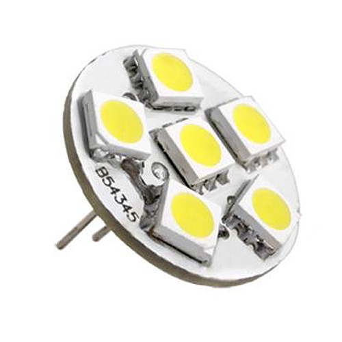 THGS 6 SMD LED Lamp G4 12V DC Spot Light Bulb Warm White 2pcs white red blue t10 24 smd cob led panel car auto interior reading map lamp bulb light dome festoon ba9s 3adapter dc 12v led